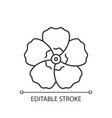 hibiscus syriacus linear icon vector image