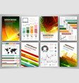 infographic templates and abstract brochure design vector image vector image