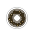 label icon on design sticker collection donut with vector image vector image
