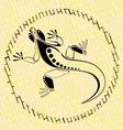 Lizard on a brick vector image vector image