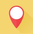 location mark flat icon vector image vector image