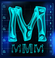 m letter capital digit roentgen x-ray vector image vector image