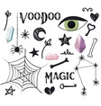 magic simple set voodoo potion design vector image
