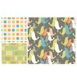 mid-century birds seamless pattern vector image vector image