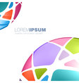 Multi colored sphere template vector image vector image