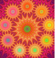 Multicolored fractal mandala background vector image vector image