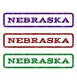 nebraska watermark stamp vector image vector image