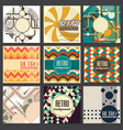 old retro vintage style background design template vector image vector image