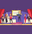 opening exhibition banquet cartoon vector image