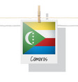 photo of comoros flag vector image vector image