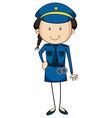 Policewoman vector image vector image