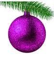 realistic pink christmas ball or bauble with vector image vector image