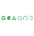 recycle green icons recycle icons isolated on vector image vector image
