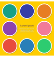 round set icon empty Flat design vector image vector image