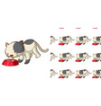 seamless background design with kitten licking vector image vector image