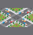 seamless city map pattern vector image vector image