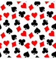 seamless pattern background of poker suits vector image vector image