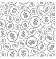 seamless pattern with dollars - background of coin vector image