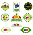 set of fruit and vegetables logo vector image vector image