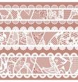 Set of lacy vintage trims vector image vector image