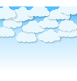 sky with cartoon clouds vector image vector image