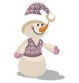 Snowman color 13 vector image vector image