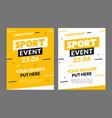 sport flyer design banner poster sport event vector image vector image