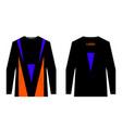 sportswear jersey template vector image
