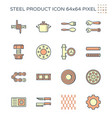 steel and metal product icon set 64x64 perfect vector image