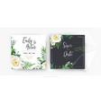 stylish floral watercolor wedding invite card vector image vector image