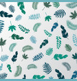 summer tropical palm leaves green color pattern vector image