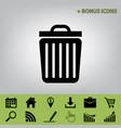 trash sign black icon at vector image