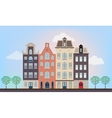 Urban european houses vector image