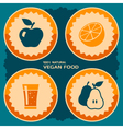 Vegan food poster design vector image vector image