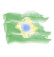 watercolor flag of brazil vector image