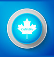 white canadian maple leaf with city name canada vector image vector image