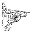 wrought-iron bracket directly vintage engraving vector image vector image