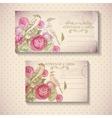 Floral Vintage Card vector image