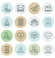 set of 16 communication icons includes profile vector image