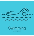 Summer Swim Water People Pictogram outline thin vector image