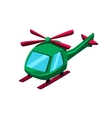 Green Helicopter Toy Aircraft Icon vector image