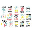 15 children s logo with handwriting quotes for vector image