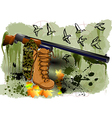 abstract hunting vector image vector image