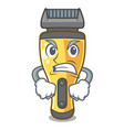 angry electric shaver isolated with in mascot
