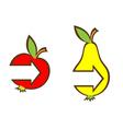 arrows in fruits vector image vector image