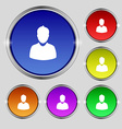 avatar Icon sign Round symbol on bright colourful vector image vector image