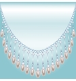 Backrground with pearls vector image vector image