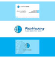 beautiful clock logo and business card vertical vector image vector image