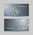 beautiful winter banners with snowflakes and swirl vector image
