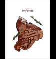 beef steak hand draw sketch vector image vector image